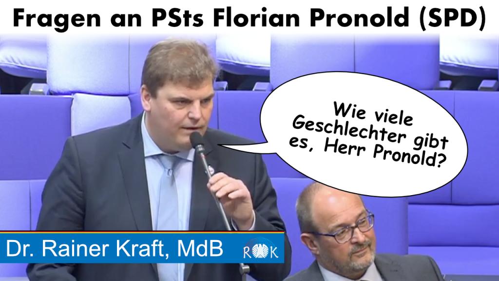 Video: Rainer Kraft befragt Florian Pronold. Wie viele Geschlechter gibt es eigentlich?