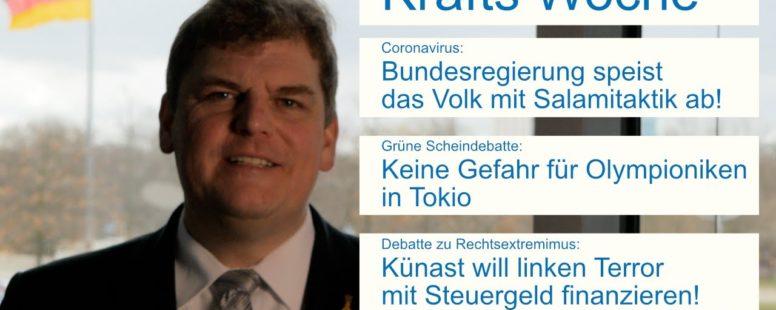 Krafts Woche: Grüne Abgeordnete Künast will Steuergeld für linken Terror!