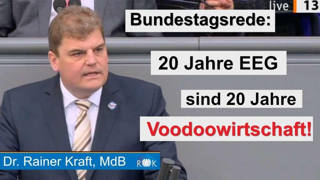 Rainer Kraft zerlegt grünen Ökosozialismus im Bundestag
