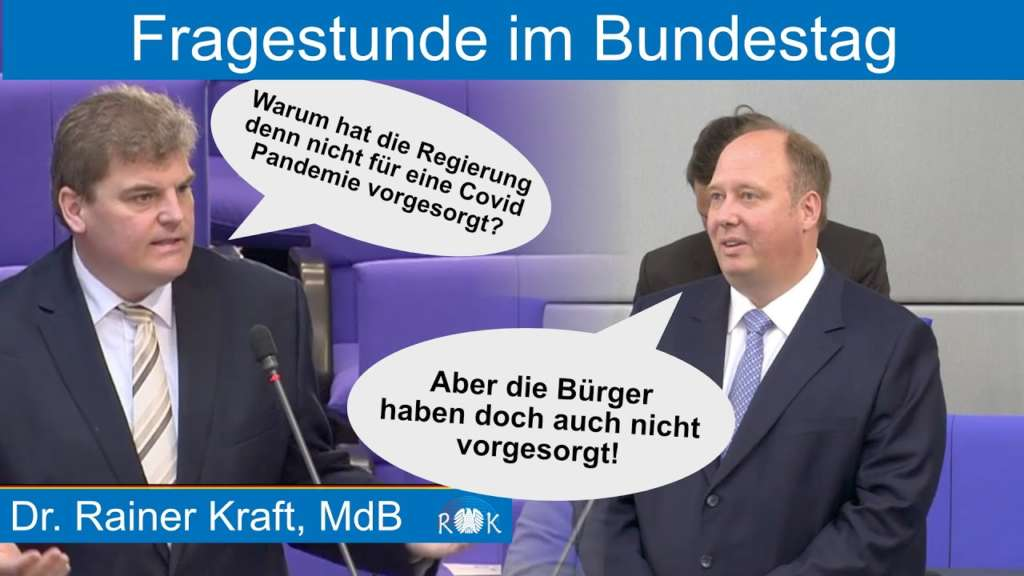 Merkels Helge Braun im Bundestag: Das Volk ist Schuld, wenn wir nicht vorsorgen!