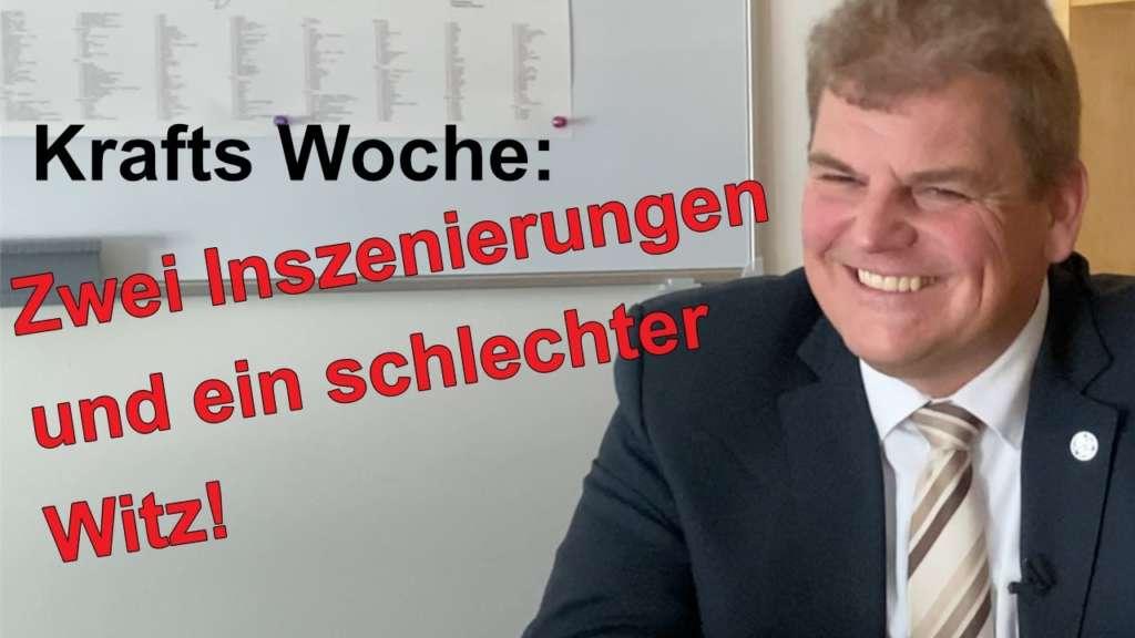 Krafts Woche: Zwei Inszenierungen und ein schlechter Witz! Neues aus dem Bundestag.
