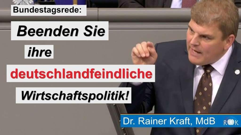 Generaldebatte zur Nachhaltigkeitswoche: Beenden Sie ihre deutschlandfeindliche Wirtschaftspolitik!