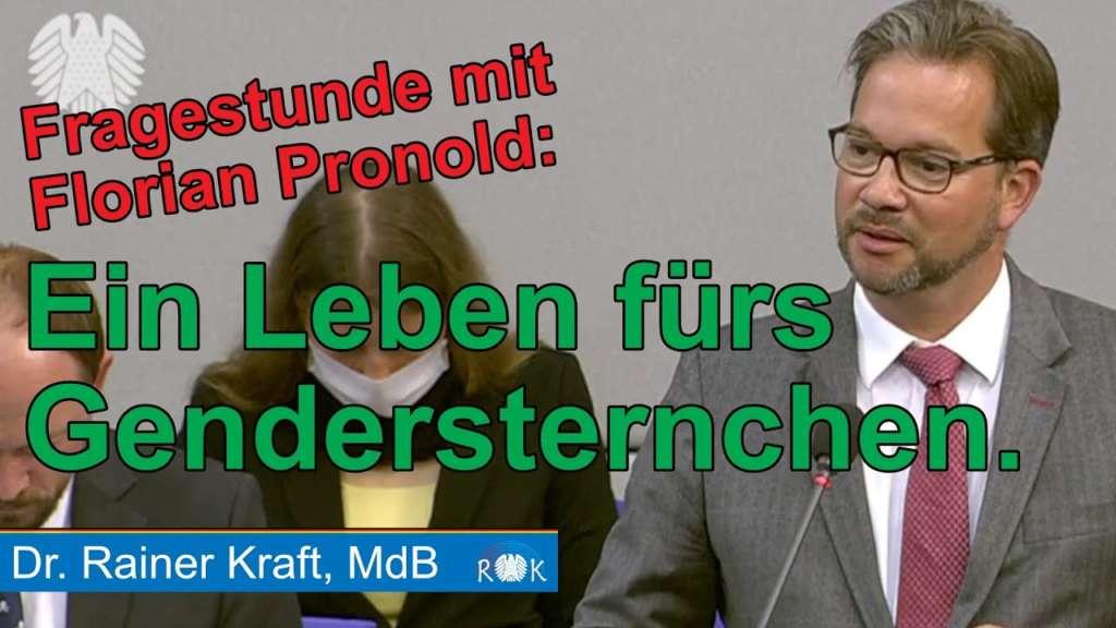 Fragestunde mit Florian Pronold: Ein Leben für die Gendersternchen!