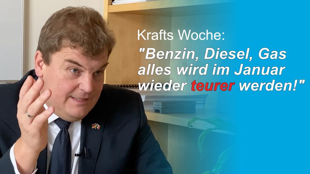Rainer Kraft: Benzin, Diesel, Gas – alles wird im Januar 2021 teurer werden!