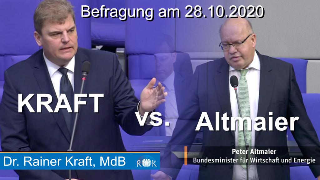 Befragung der Bundesregierung mit Wirtschaftsminister Altmaier