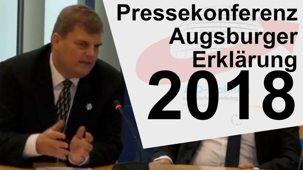 Pressekonferenz: Augsburger Erklärung