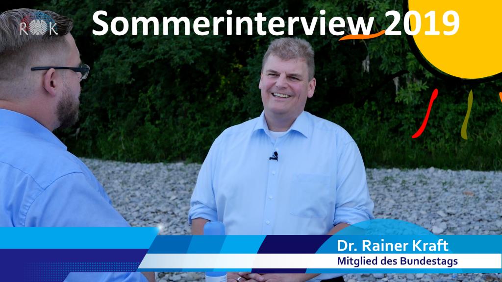 Sommerinterview. Rainer Kraft berichtet ausführlich über seine Arbeit im Deutschen Bundestag