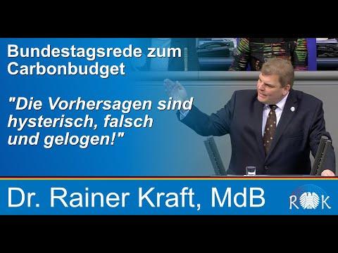 """Bundestagsrede zum """"Carbonbudget"""": Die Vorhersagen sind hysterisch, falsch und gelogen!"""