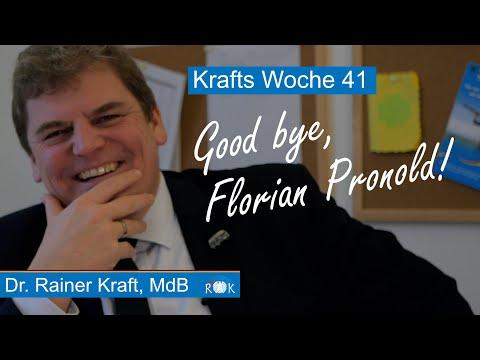 Krafts Woche: Good bye, Florian Pronold!