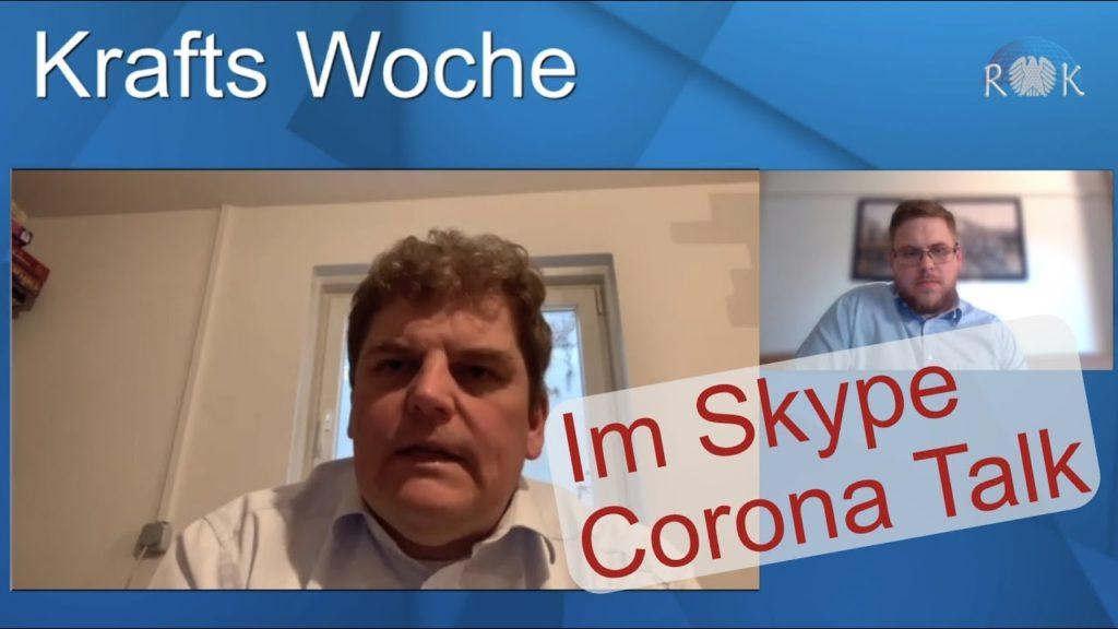 Corona Talk: Krafts Woche im Skype-Interview