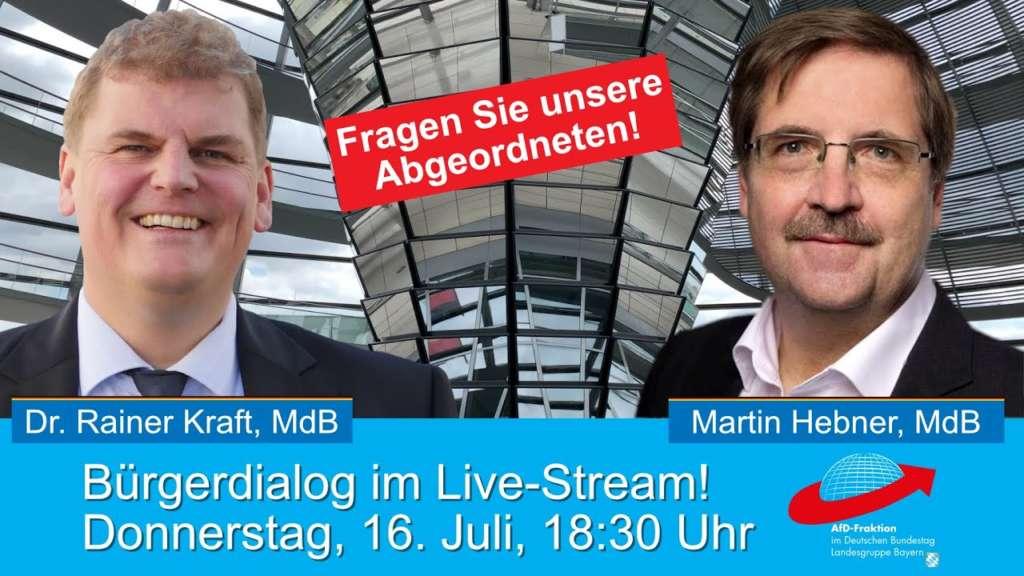 Online-Bürgerdialog: Die AfD Abgeordneten Rainer Kraft und Martin Hebner beantworten Fragen